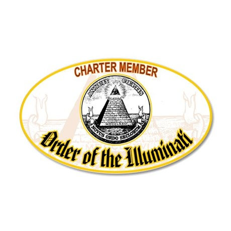 Order of the Illuminati 35x21 Oval Wall Peel