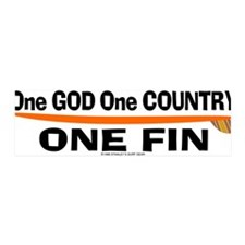 One God One Fin 36x11 Wall Peel