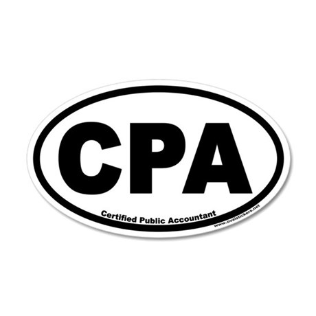 CPA Certified Public Accountant Euro 35x21 Oval Wa