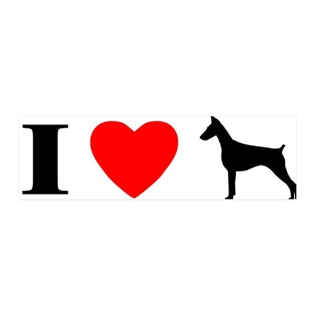 I Love Doberman Pinscher 36x11 Wall Peel