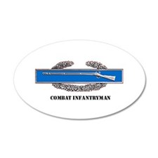 Combat Infantryman's Badge 35x21 Oval Wall Peel