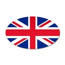 Britain Flag 20x12 Oval Wall Peel