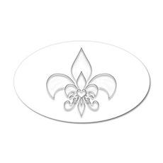 Fleur de lis 35x21 Oval Wall Peel