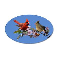 Cardinal pair 20x12 Oval Wall Peel