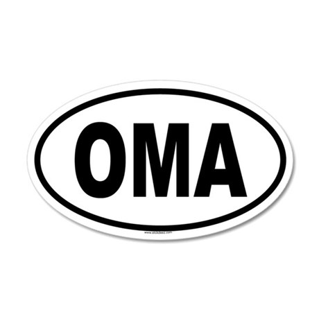 OMA 20x12 Oval Wall Peel