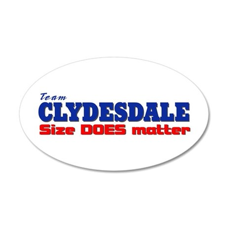 """Team Clydesdale"" 20x12 Oval Wall Peel"