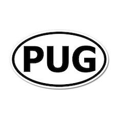 Pug 35x21 Oval Wall Peel