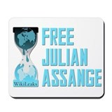 Free Julian Assange Wikileaks Mousepad