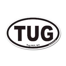 Tug Hill New York TUG Euro 20x12 Oval Wall Peel