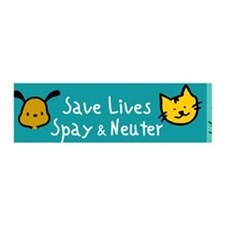 Save Lives Spay & Neuter 36x11 Wall Peel