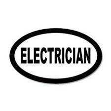 Electrician 20x12 Oval Wall Peel