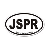 JSPR Jasper National Park Euro 35x21 Oval Wall Pee