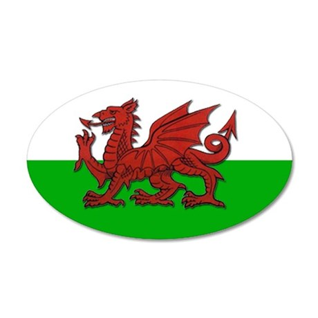 Wales 35x21 Oval Wall Peel