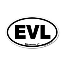 Ellicottville New York EVL Euro 35x21 Oval Wall Pe