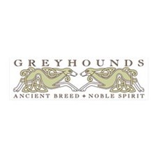 Knotwork Greyhounds 20x6 Wall Peel
