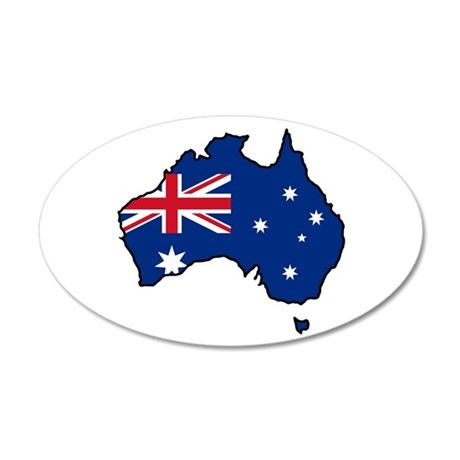 Cool Australia 35x21 Oval Wall Peel