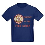Fire Chief Property Kids Dark T-Shirt