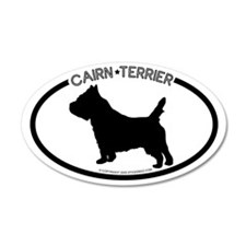 """ Cairn Terrier"" White 35x21 Oval Wall Peel"