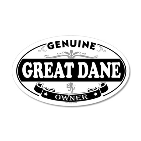 GREAT DANE 35x21 Oval Wall Peel