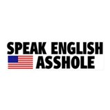 Speak English Asshole 20x6 Wall Peel