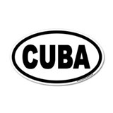 CUBA Euro 20x12 Oval Wall Peel