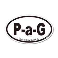 Pass-a-Grille Beach P-a-G Euro 20x12 Oval Wall Pee