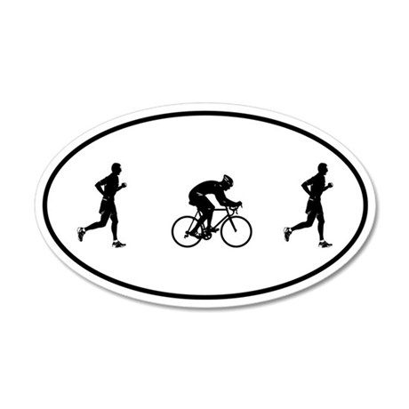 Men's Duathlon 35x21 Oval Wall Peel