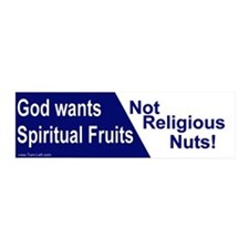 20x6 Wall Peel - God wants spiritual fruits NOT re