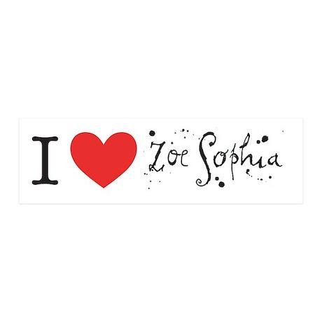 Zoe Sophia 36x11 Wall Peel