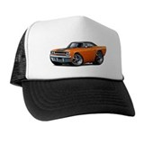 1970 Roadrunner Orange-Black Car Trucker Hat