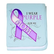 I Wear Purple for My Mom baby blanket