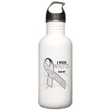 I Wear White for my Daughter Water Bottle