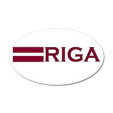 Riga, Latvia 35x21 Oval Wall Peel