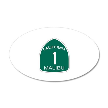 Malibu, California Highway 1 35x21 Oval Wall Peel