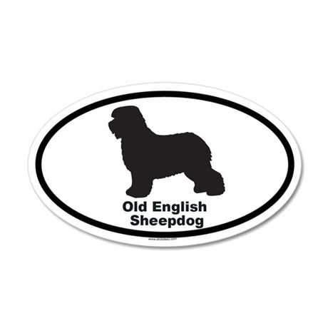 OLD ENGLISH SHEEPDOG 20x12 Oval Wall Peel