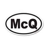 McQ Euro 20x12 Oval Wall Peel