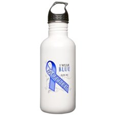 I Wear Blue for my Mother Water Bottle