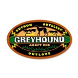 &quot;Greyhound: Adopt One&quot; Sticker (green)