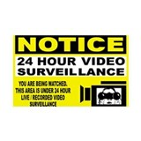 24 Hour Surveillance 35x21 Wall Peel
