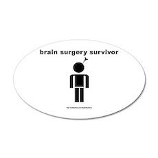 Brain Surgery Survivor 20x12 Oval Wall Peel