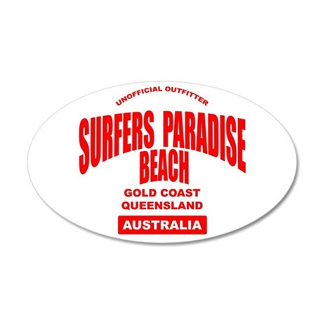 Surfers Paradise Beach 35x21 Oval Wall Peel