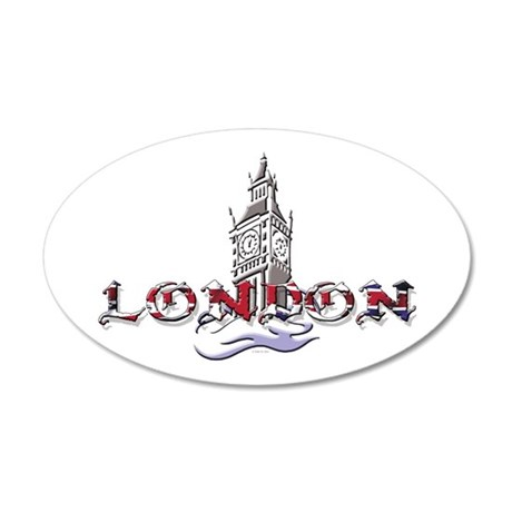 London: Clock Tower 20x12 Oval Wall Peel