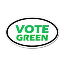Vote Green 20x12 Oval Wall Peel
