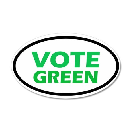 Vote Green 35x21 Oval Wall Peel