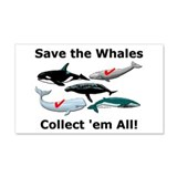 Save the Whales 20x12 Wall Peel