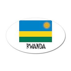 Rwanda Flag 20x12 Oval Wall Peel