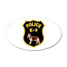 K-9 Badge 20x12 Oval Wall Peel
