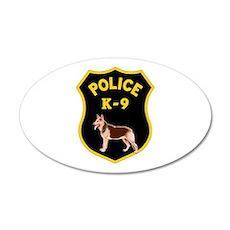 K-9 Badge 35x21 Oval Wall Peel