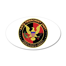 Anti Terrorist Unit RED 20x12 Oval Wall Peel
