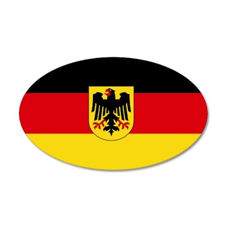 German COA flag 35x21 Oval Wall Peel